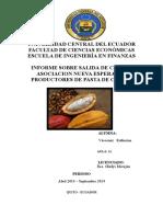 Informe Salida de Campo finca de cacao