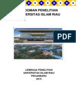 Buku Pedoman Penelitian Universitas Islam Riau