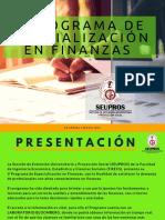 V Programa de Especialización en Finanzas