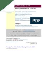Cursos Portugal Newsletter Nº 069 e Emprego