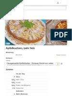Apfelkuchen, Sehr Fein (Rezept Mit Bild) Von Schrat _ Chefkoch