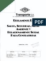 Reglamento SSMS Para Contratistas