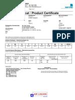 Dia 2,4 mm Certificate_2110091740062678 ALTIG 316 L