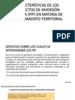 Características de Los Proyectos de Inversión Pública (