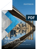 Pantheon Study Cash Management Strategies for Private Equity Investors