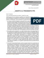 Carta abierta al Presidente PPK