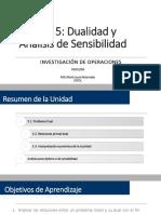 Unidad 5 - Dualidad y Análisis de sensibilidad (1+2)