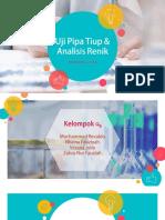 Uji Pipa Tiup & Analisis Renik (Alpha 6)