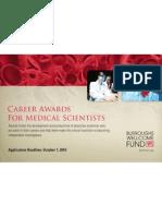 2010 Career Award for Medical Scientists