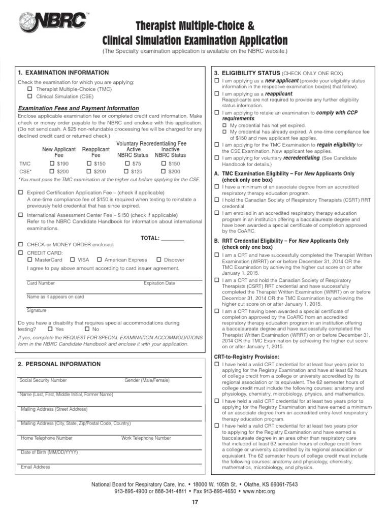 TMC CSE Application | Fee | Course Credit