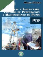Formulas y Tablas de Trabajos de Perforacion y Mantenimiento de Pozos
