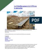 20170605 Cerro Pabellón Generó 2200 KWh en Primer Mes de Operación