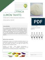 Ficha Técnica Pectina