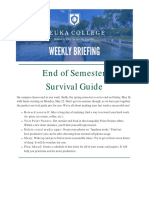 Keuka College Weekly Briefing May 8 - 12