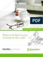 Glassdoor Best Country in Europe to Get a Job