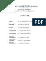 Directivas Para Las Practicas Clinicas y o Comunitarias 2012
