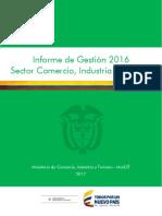 Informe de Industria – Segundo Trimestre, 2016 (Mincomercio)