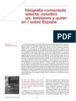 """bibliografia estudios gay """"lesbianos y queer / España"""