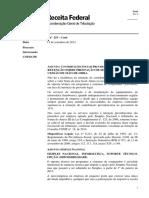 SCCosit2532014 Consulta Receita Federal Sobre Retenção de Inss