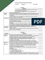 Criterios Para Revisión de Plan