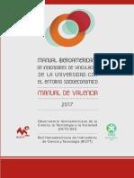 Manual Iberoamericano de Indicadores de Vinculacion de La Universidad Con El Entorno Socioeconomico