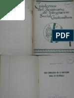 Cuaderno del Seminario de Integración Social de Guatemala No.1