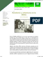 Breneman, Ruralismo y Urbanismo en La Biblia