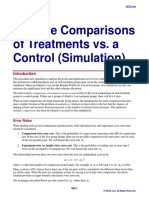 Multiple Comparisons of Treatments vs a Control (Simulation)