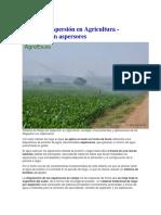 Riego Por Aspersión en Agricultura