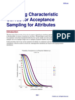 Operating Characteristic Curves for Acceptance Sampling for Attributes