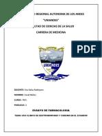 Ensayo Farmacologia Dextrometorfano Uso Clinico en El Ecuador