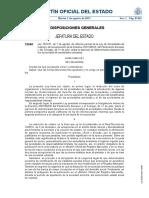 Ley 25.2011, De 1 de Agosto, De Reforma Parcial de La Ley de Sociedades de Capital