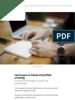 How to Pass a 2-Minute UX Portfolio Screening – Suelyn Yu – Medium