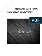 Como Instalar El Sistema Operativo Windows 7