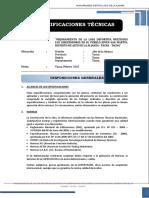 ESP. TECNICAS  OBRAS DE SANEAMIENTO