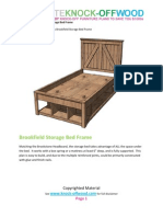 Knock-Off Wood Brook Stone Twin Bed Frame