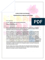 ECUADOR Capacitación en Flores de Exportacion