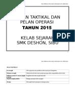 Pelan Taktikal Kelab Sej 2015