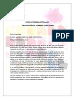 Ecuador cursos,talleres,seminarios en Preservación de Flores de Exportacion