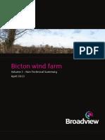 Bicton Wind Farm NTS April 2013