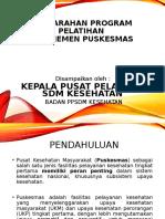 PENGARAHAN PROGRAM - PELATIHAN MANAJEMEN PUSKESMAS 2016.ppt