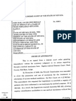 Nevada Supreme Court Ruling - Constitutionality of Medical Marijuana Registry