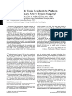 How Safe Is It to Train Residents to Perform Off-Pump Coronary Artery Bypass Surgery?