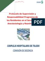 Informacion y Protocolo de Supervision. Anestesiologia 2011-12