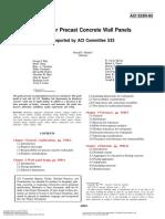 ACI 533R-93 (Precast Concrete Wall Panels)