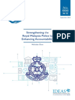 Policy IDEAS No 33 Strengthening the Royal Malaysia Police by Enhancing Accountability