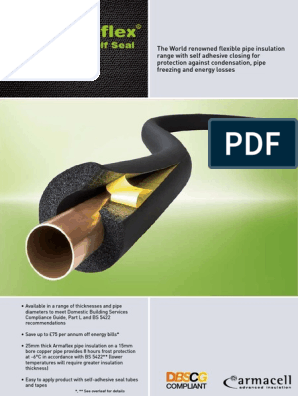 Armaflex Self Seal Leaflet Digital | Thermal Insulation | Pipe