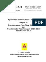 SPLN D3.002-1 2007 Spesifikasi Transformator Distribusi.pdf