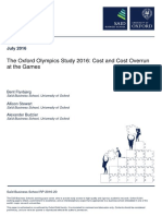 The Oxford Olympics Study 2016 Cost and Cost Overrun