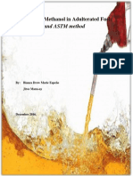 Adulterated Fuel Test Detection Research